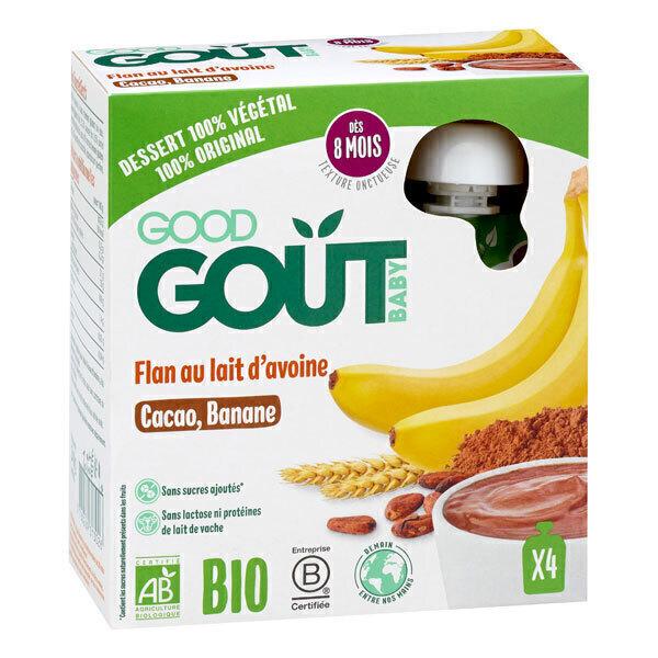 Good Gout - Flan au lait d'avoine au cacao et banane 4x85g - Dès 8 mois