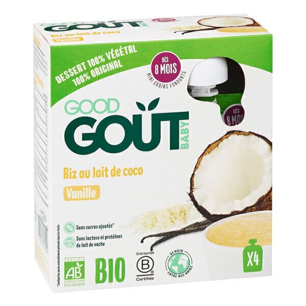 Good Gout - Riz au lait de coco, vanille 4x85g - Dès 8 mois