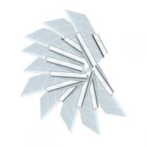 Eco Buro - 10 Ersatzklingen für Cutter 9 mm