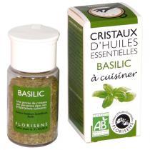 Florisens - Basil essential oil crystals, kitchen herb. 20g