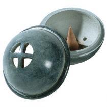 Aromandise - Duftkegelhalter Kumo aus grauem Stein
