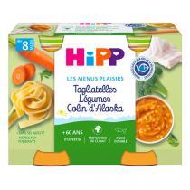Hipp - 2 Pots Tagliatelles Légumes Colin d'Alaska 2x190g