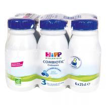 Hipp - Pack Lait de croissance biologique, 6x25cl, dès 10 mois