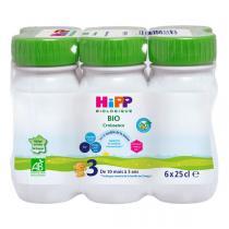 HiPP - Pack de 6 lait de croissance Combiotic 3 dès 10 mois 25cl