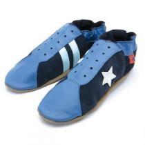 Triggerfish - Pantofole adulto in cuoio Retro Navy Blue