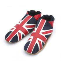 Triggerfish - Pantofole adulto in cuoio Union Jack red navy