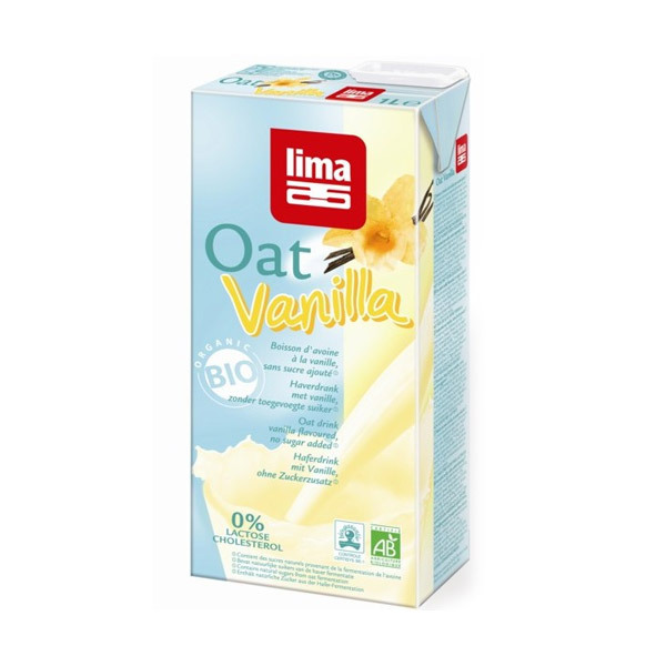 Lima - Boisson végétale d'Avoine à l'Extrait de Vanille 1L