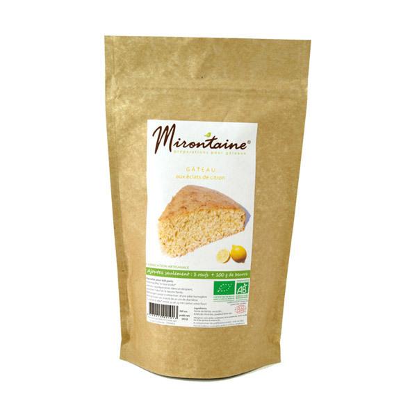 Mirontaine - Préparation BIO Gâteau aux éclats de citron 305 g