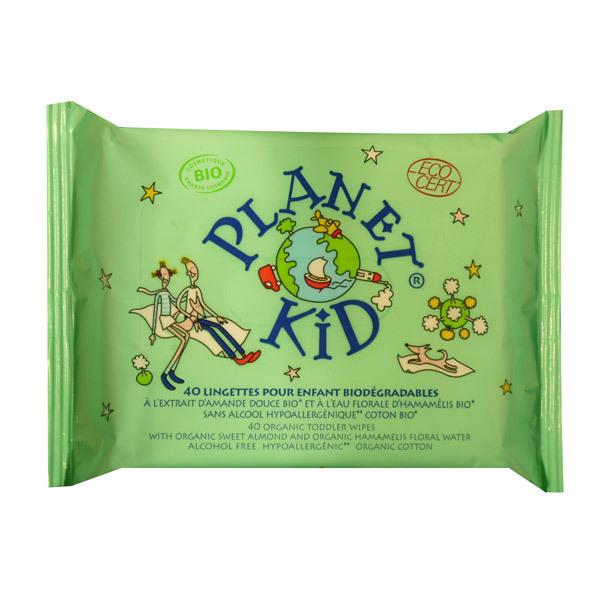 Planet Kid - 40 Lingettes Bio pour Enfant