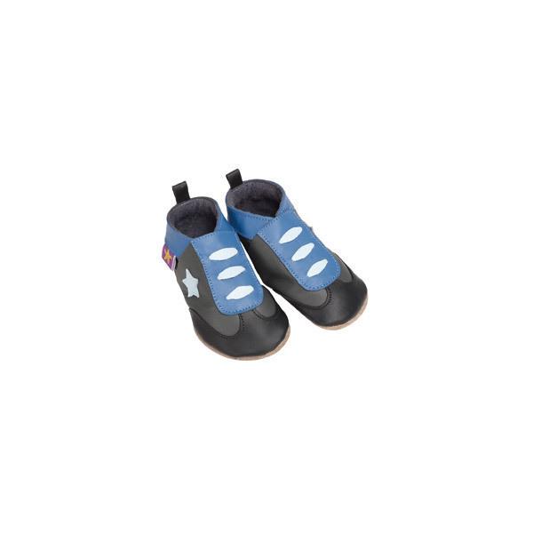 Starchild - Chaussons en cuir Sneaker Gris/Bleu