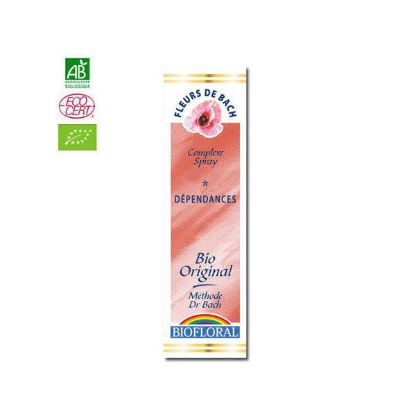 Biofloral - Dépendances - Complexe n°1 Fleurs de Bach bio Spray 20ml