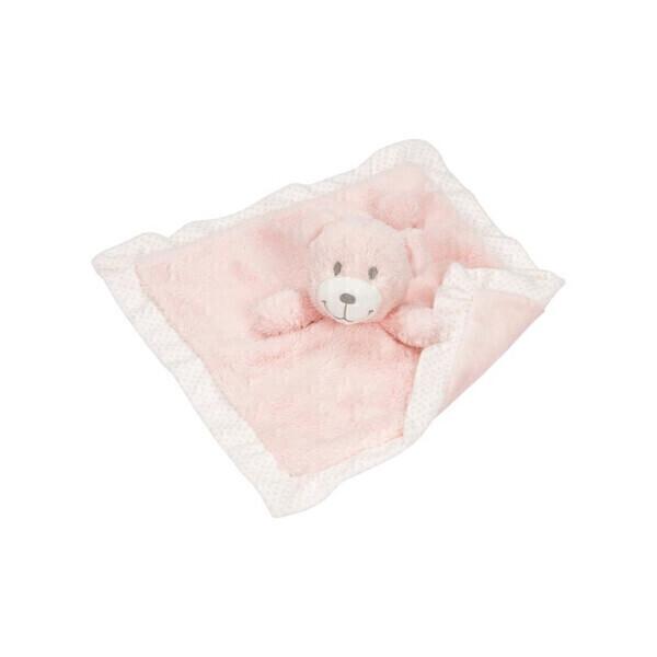 Goki - Doudou extra-doux ours rose
