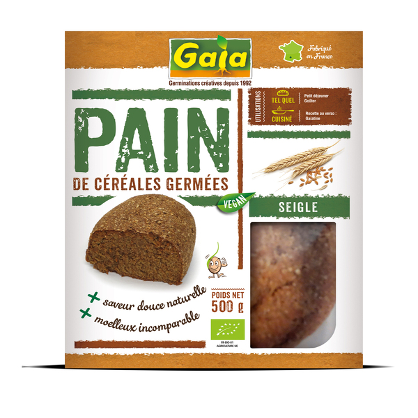 Gaïa - Pain de céréales germées seigle 500g