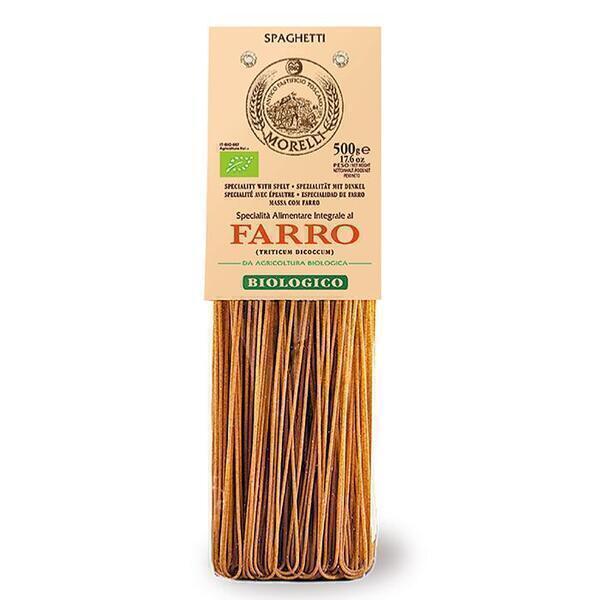 Saveurs de Tosca - Pâtes BIO d'épeautre entières Spaghetti Morelli - 500 gr Pâ