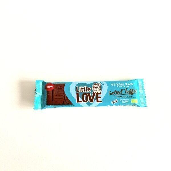 Littlechock / love chock - barre de chocolat noir et caramel salé BIO 25G