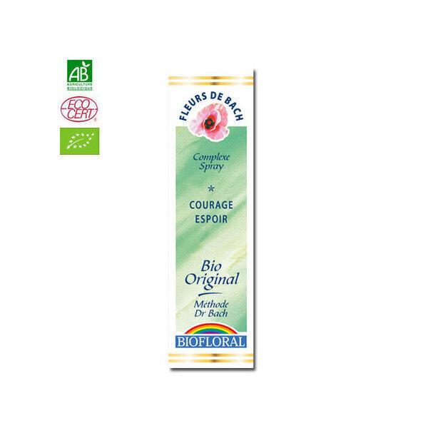 Biofloral - Courage Espoir - Complexe n°4 Fleurs de Bach bio Spray 20ml