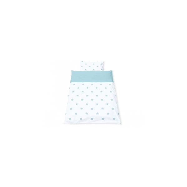 Pinolino - Linge de lit en percale pour lits de bébé Sternchen bleu