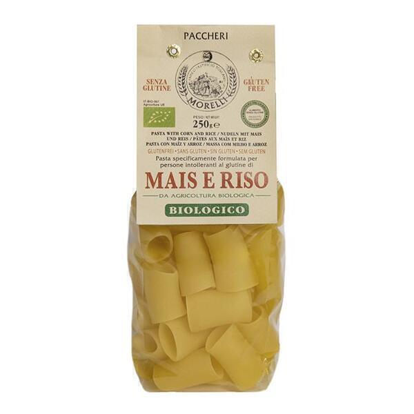 Saveurs de Tosca - Pâtes BIO de maïs et riz Paccheri Morelli - 250 gr Pâtes artisan