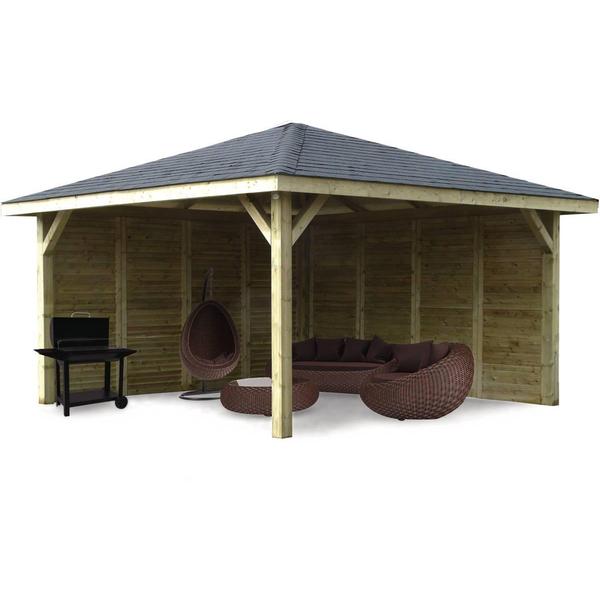 Solid - Abri de Jardin Maisonnette Chalet Kiosk Combination 437x437