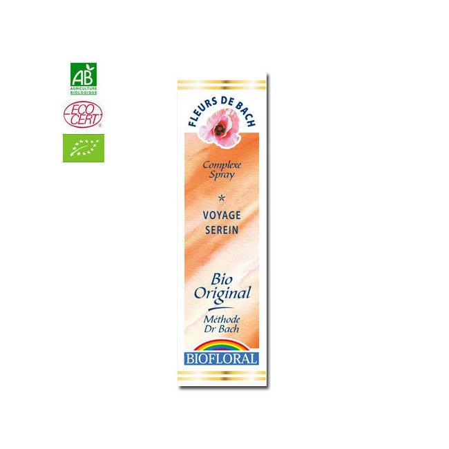Biofloral - Voyage serein - Complexe n°16 Fleurs de Bach bio Spray 20ml