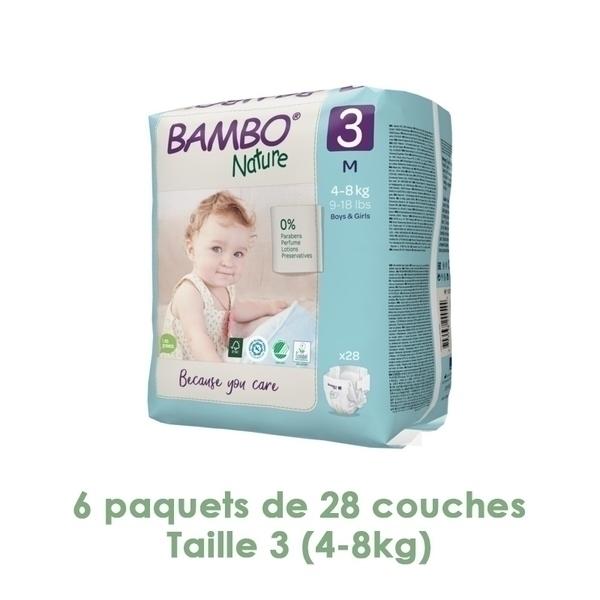 Bambo Nature - Couches Bambo Nature Midi T3 4/8 kg - 6 paquets de 28