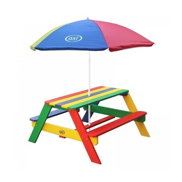 Axi - AXI Table Picnic NICK Multicolore avec parasol Multicolore