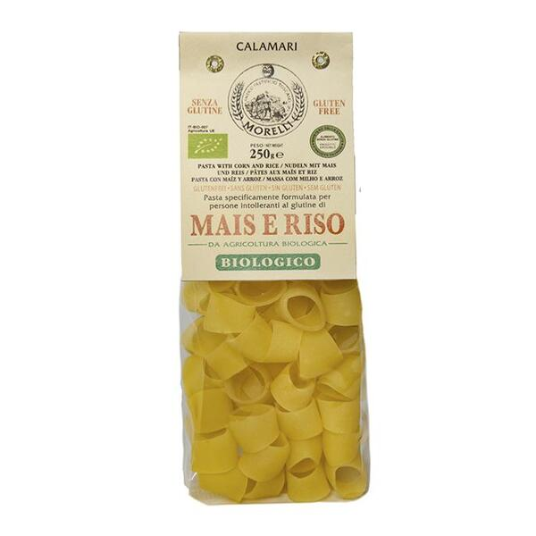 Saveurs de Tosca - Pâtes BIO de maïs et riz Calamari Morelli - 250 gr Pâtes artisan