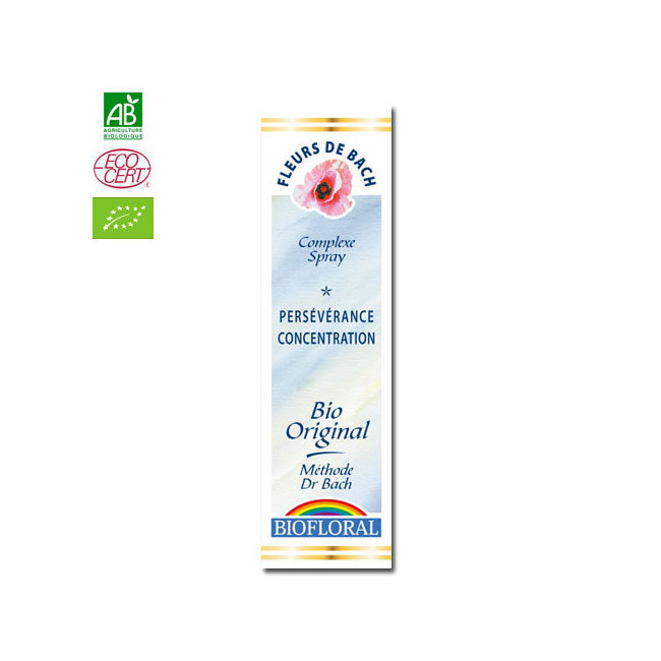 Biofloral - Persévérance - Complexe n°13 Fleurs de Bach bio Spray 20ml