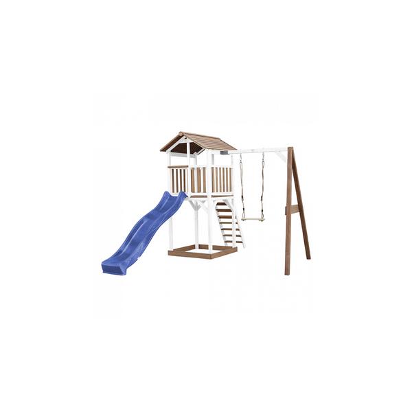 Axi - AXI Beach Tower avec Balancoire Simple Marron Blanc Bleu