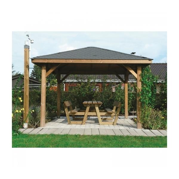 Solid - Abri de Jardin Maisonnette Chalet de Jardin Kiosk 449x347