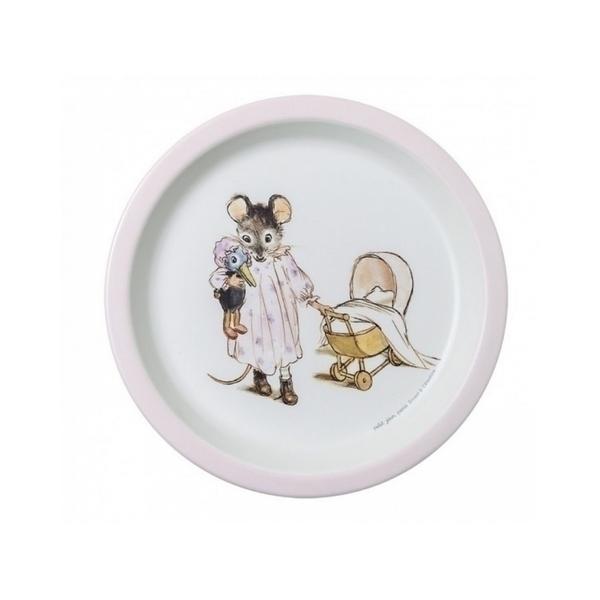 Petit Jour - Assiette bebe Ernest et Celestine Rose