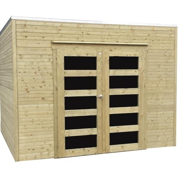 Solid - Abri de jardin en bois traité autoclave Bari 8 m²