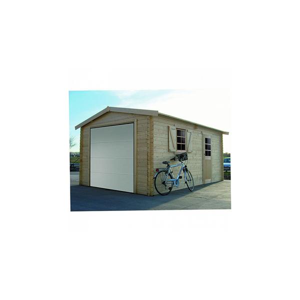 Solid - Abri en bois Garage 40 mm porte sectionnelle