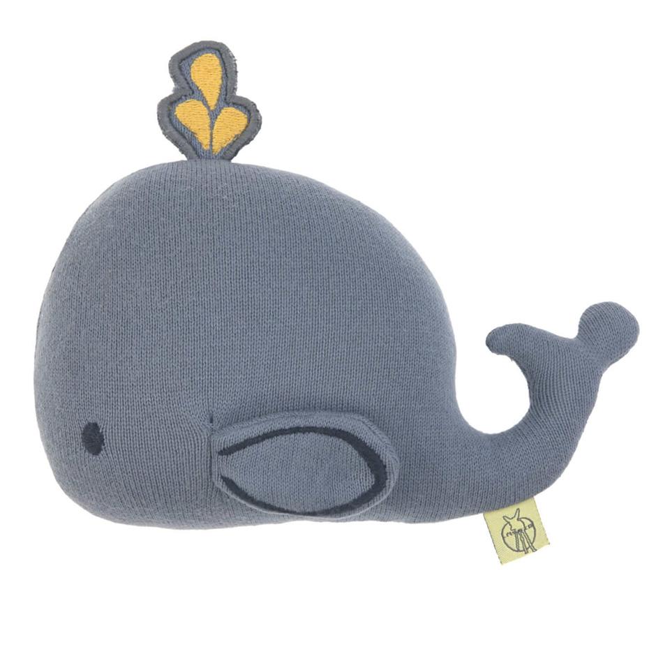 Lässig - Hochet tricoté en coton bio Baleine