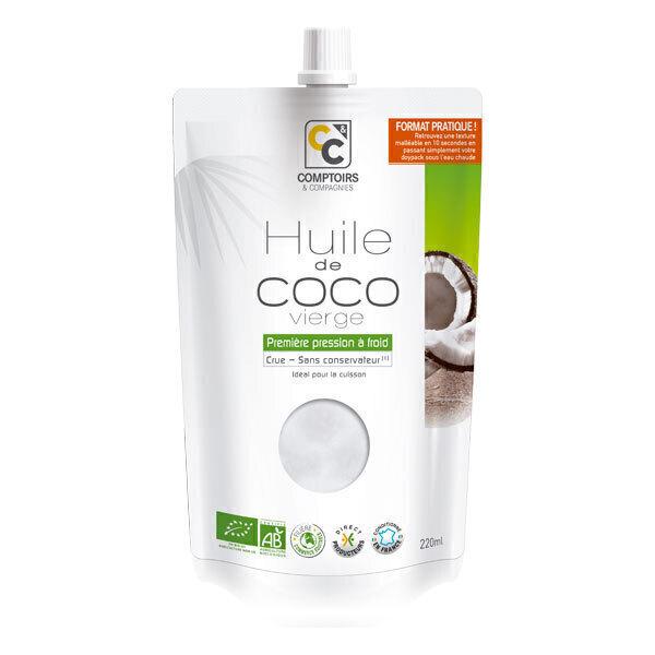 Comptoirs et Compagnies - Huile de coco vierge Doypack 220ml