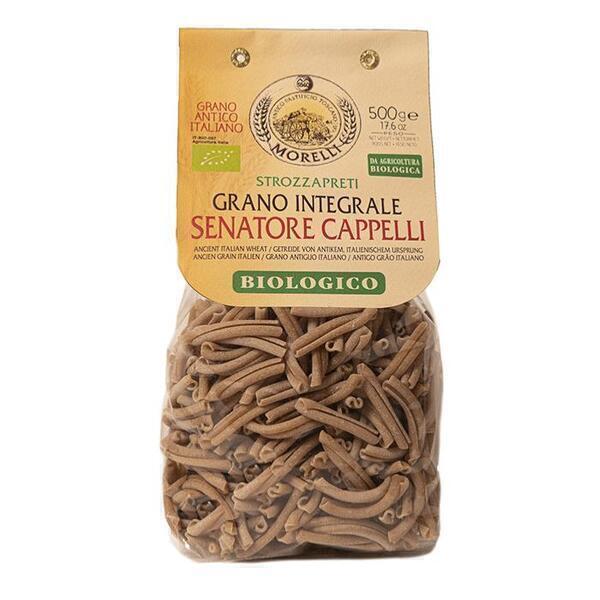 Saveurs de Tosca - Pâtes BIO de blé entier Senatore Cappelli Strozzapreti Morelli -