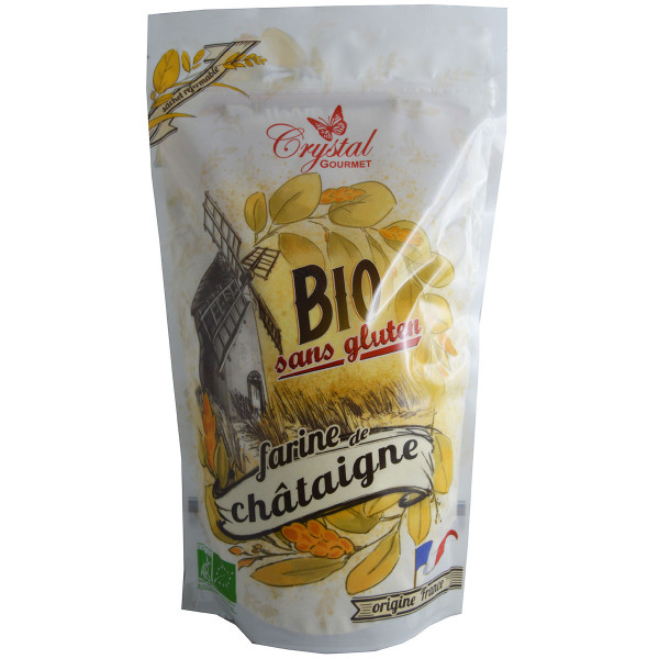 Crystal Gourmet - Farine de Châtaigne Bio - 500 g