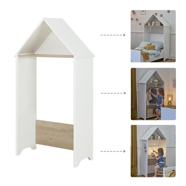 Galipette - Cabane 3en1 - bureau - tête de lit - portant Celeste - Blanc