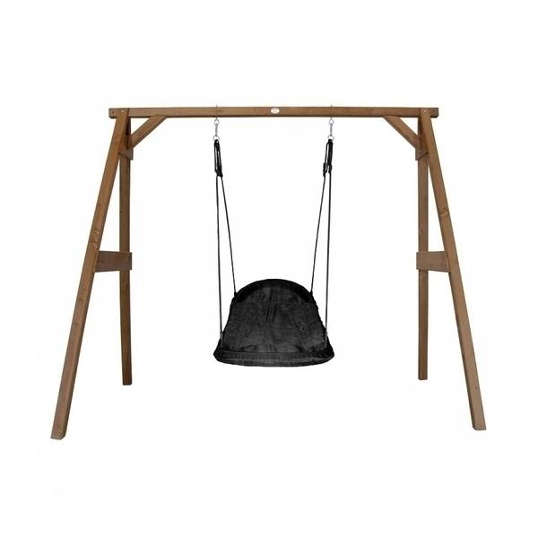 Axi - AXI Portique en bois Marron avec balançoire siège nid ovale