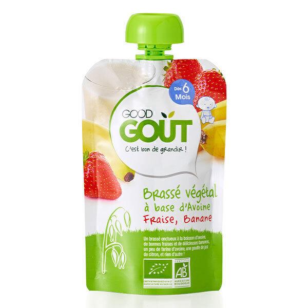 Good Gout - Brassé végétal avoine fraise banane 90g - Dès 6 mois