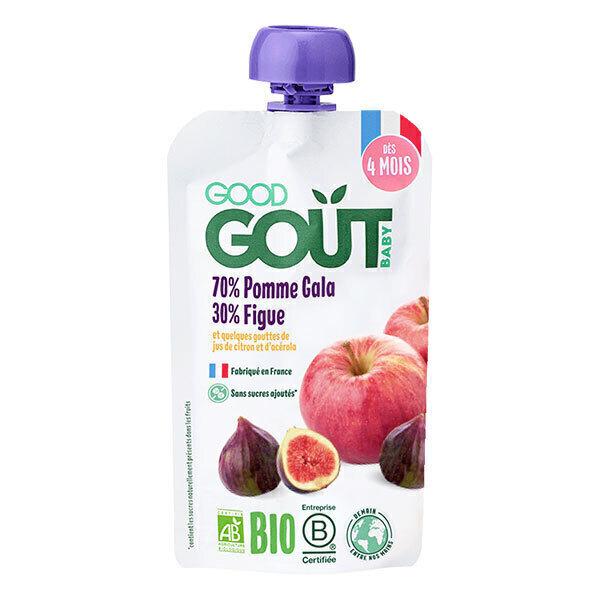 Good Gout - Gourde de fruits pomme figue 120g - Dès 4 mois
