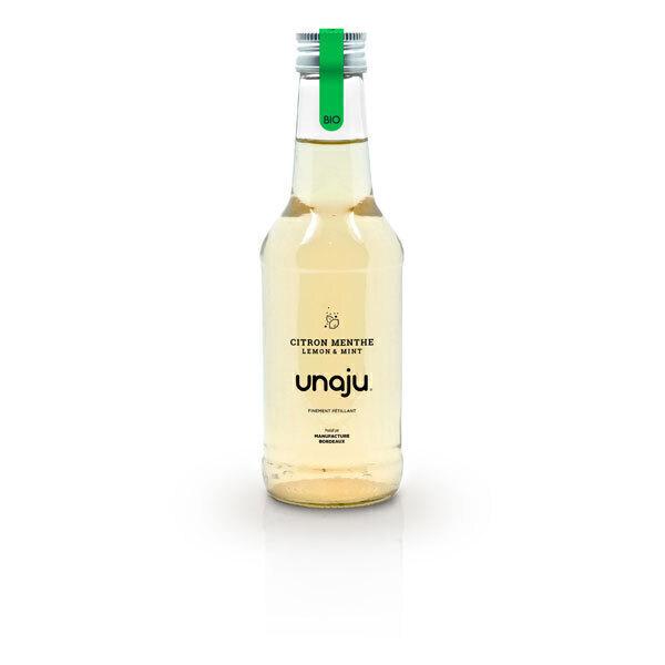 Unaju - Boisson pétillante citron menthe 25cl