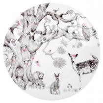 Love Mae - Assiette en porcelaine forêt enchantée