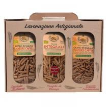 Saveurs de Tosca - Coffret cadeau gourmand Pâtes BIO de blé entier Senatore Cappell
