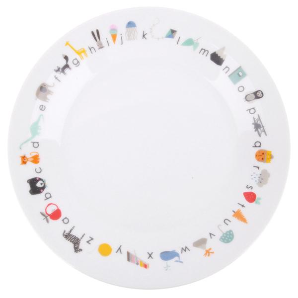 Love Mae - Assiette en porcelaine ABC