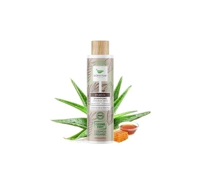 Biophytum - Shampoing bio Cheveux Secs - Miel, Karité, Aloe Vera. 250 ml