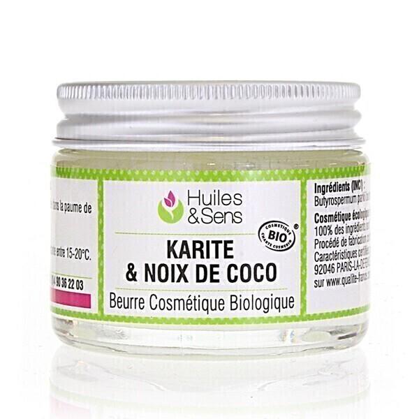 Huiles & Sens - Beurre de Karité & Noix de Coco Bio