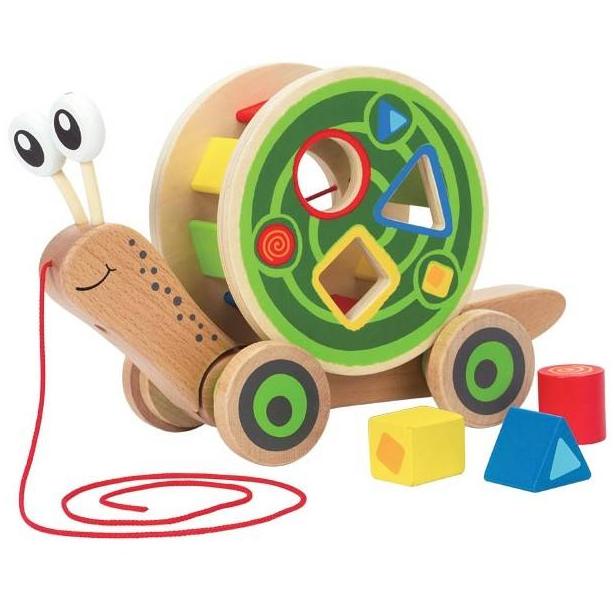 Hape - Escargot roulant avec jeu de formes