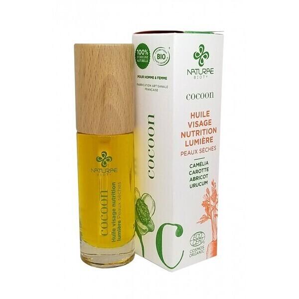 Naturae Bioty - Huile nutrition lumière COCOON-peaux sèches- 30 ml