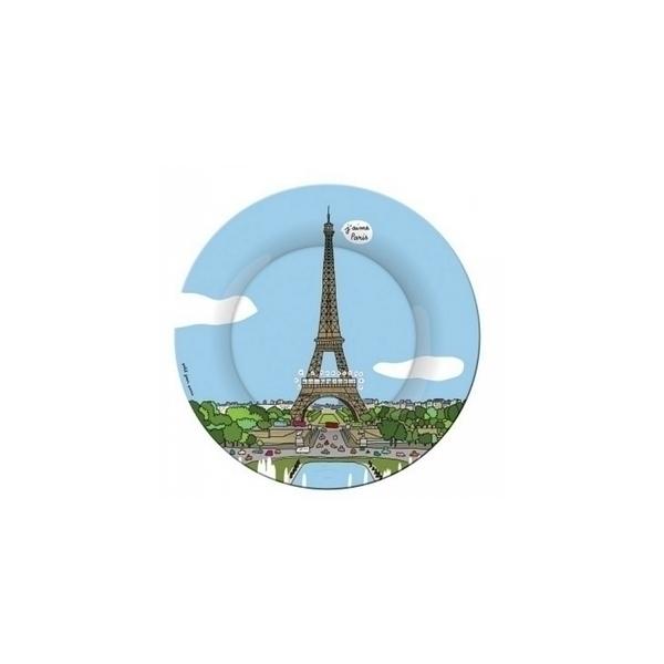 Petit Jour - Assiette a dessert Paris Tour Eiffel Trocadéro